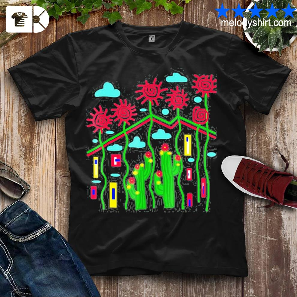 Cactus and flowers shirt