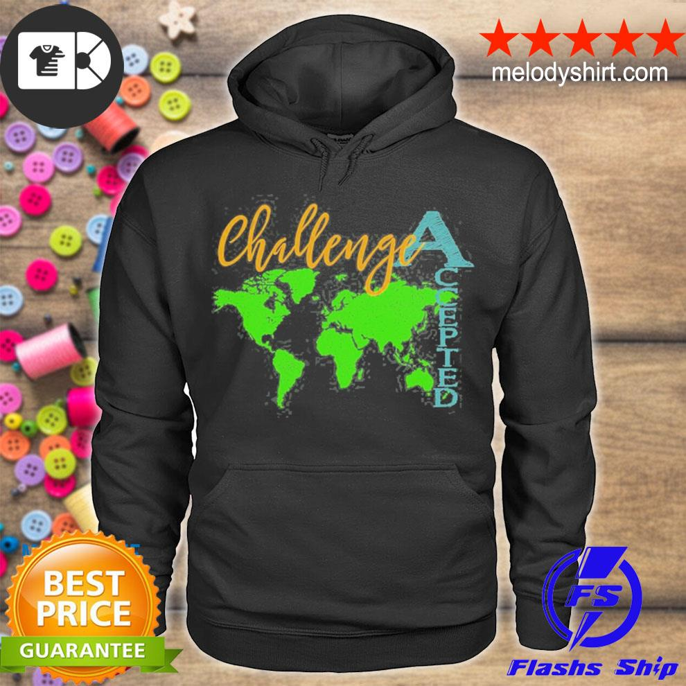 Challenge accepted with map for students and tutors s hoodie