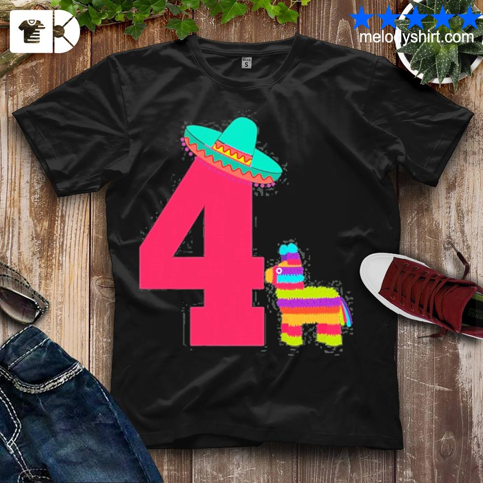 Cinco de mayo toddler mexican fiesta 4th birthday outfit shirt