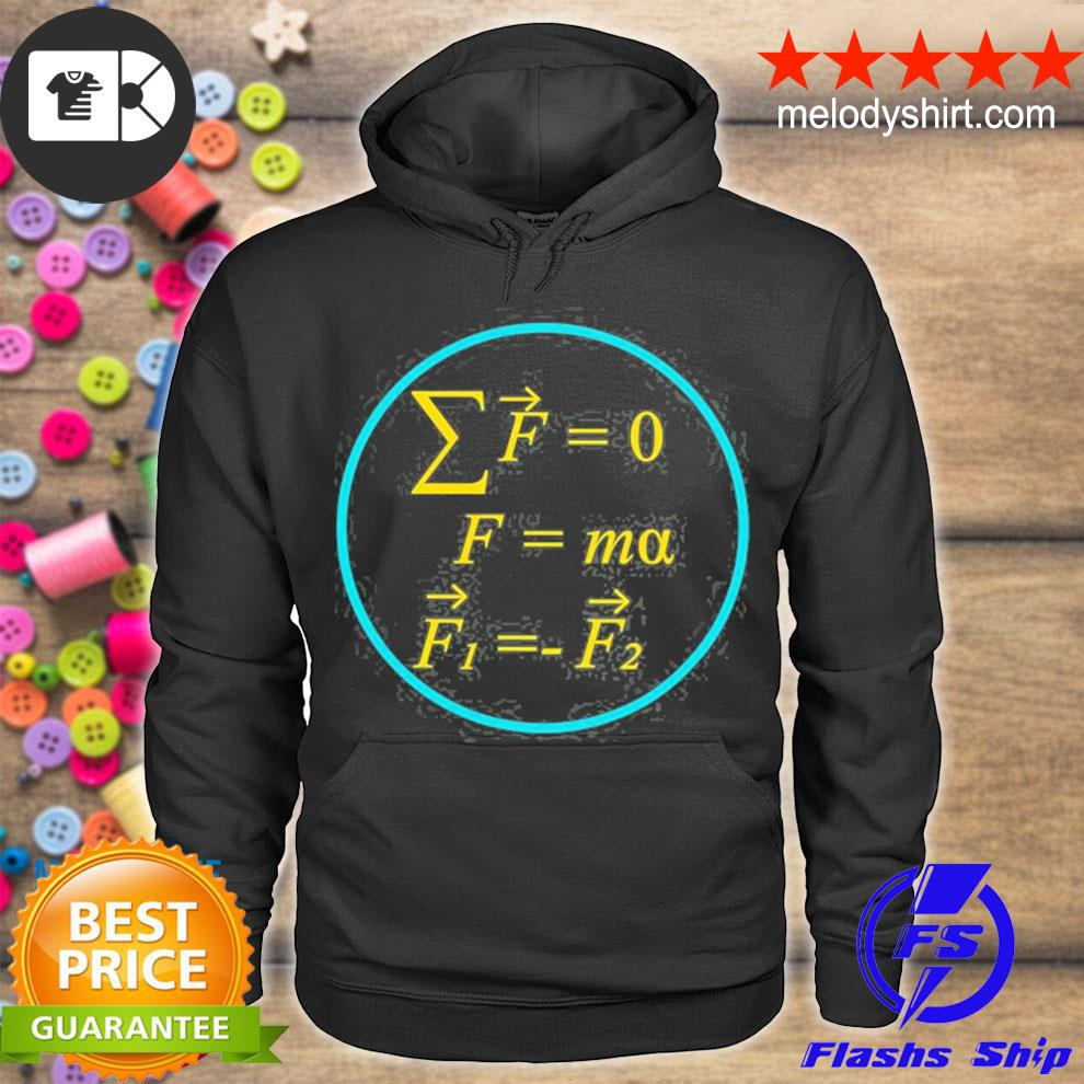 Cool science and math s newton's laws of motion s hoodie