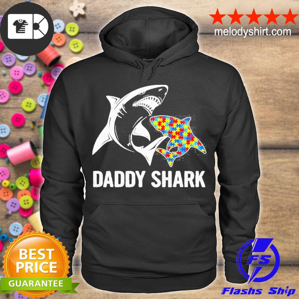 Daddy shark autism awareness father's day gift s hoodie