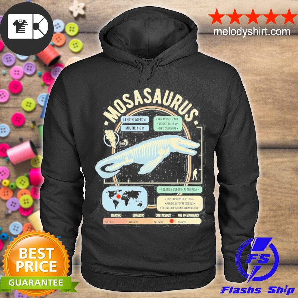 Dinosaur facts mosasaurus science and anatomy gift s hoodie
