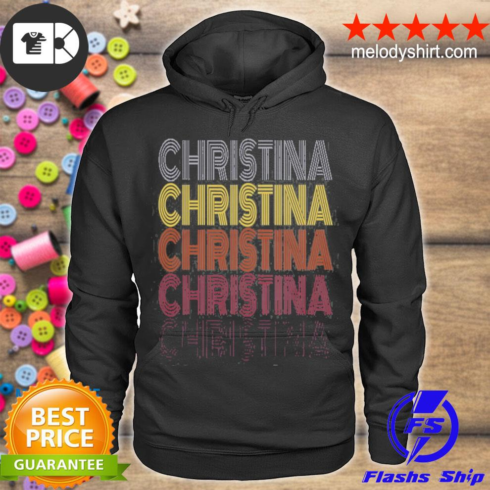 Graphic 365 first name christina retro pattern vintage style s hoodie