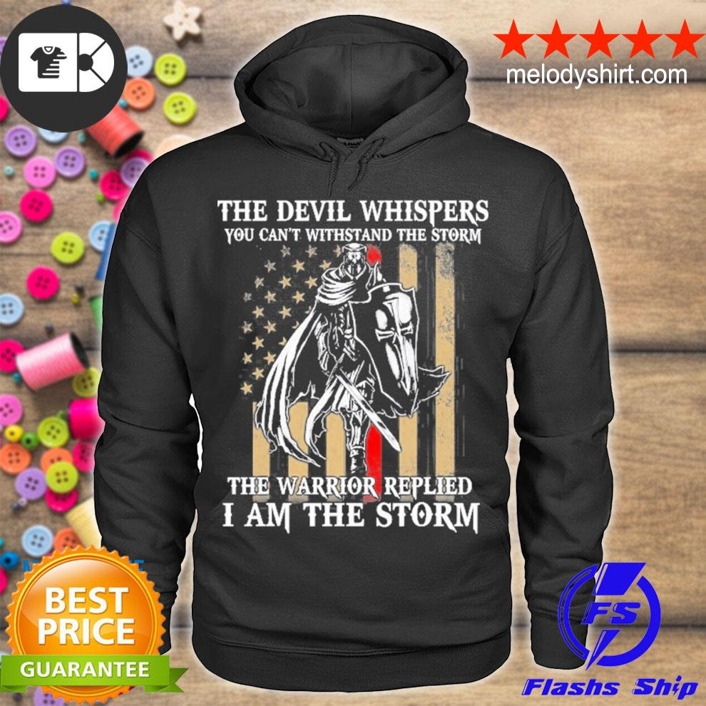 I am the storm devil whispers knight templar us flag s hoodie