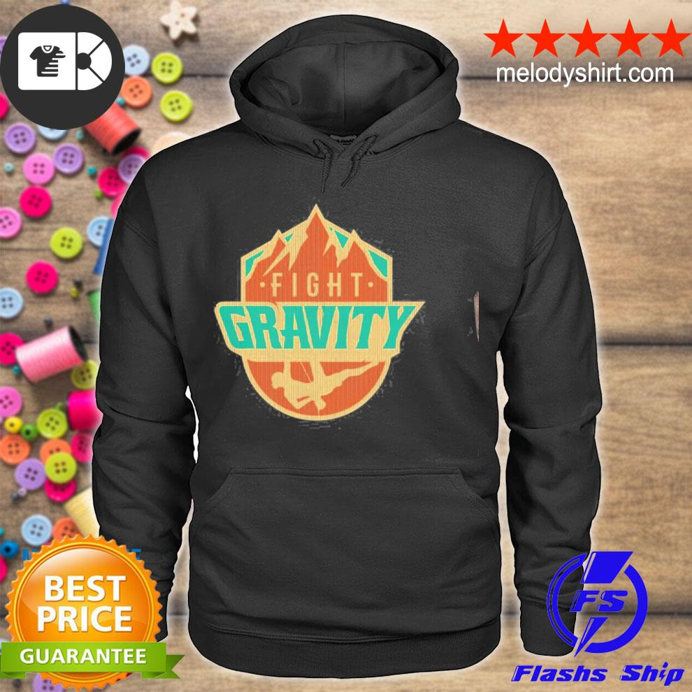 Mountain wall rock climbing vintage fight gravity s hoodie