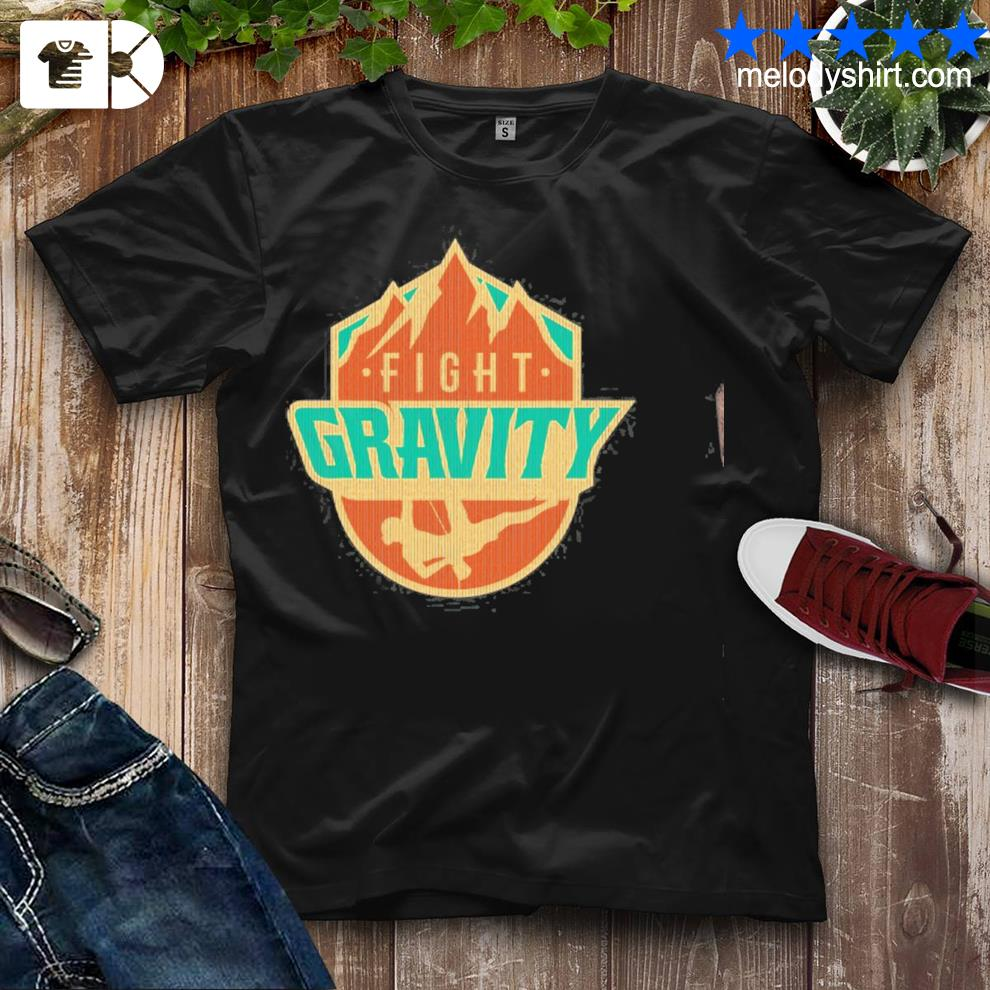 Mountain wall rock climbing vintage fight gravity shirt