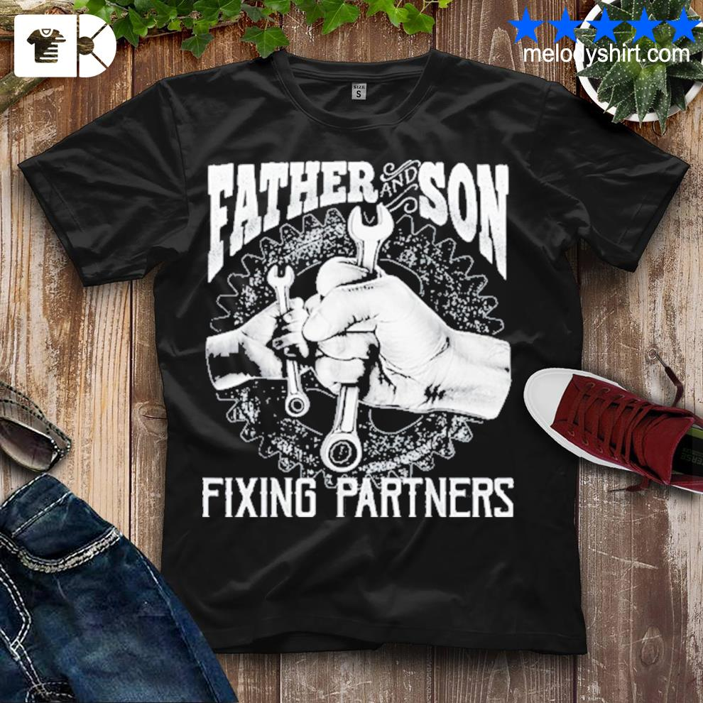 Father and son fixing partners mechanic fathers day us 2021 shirt