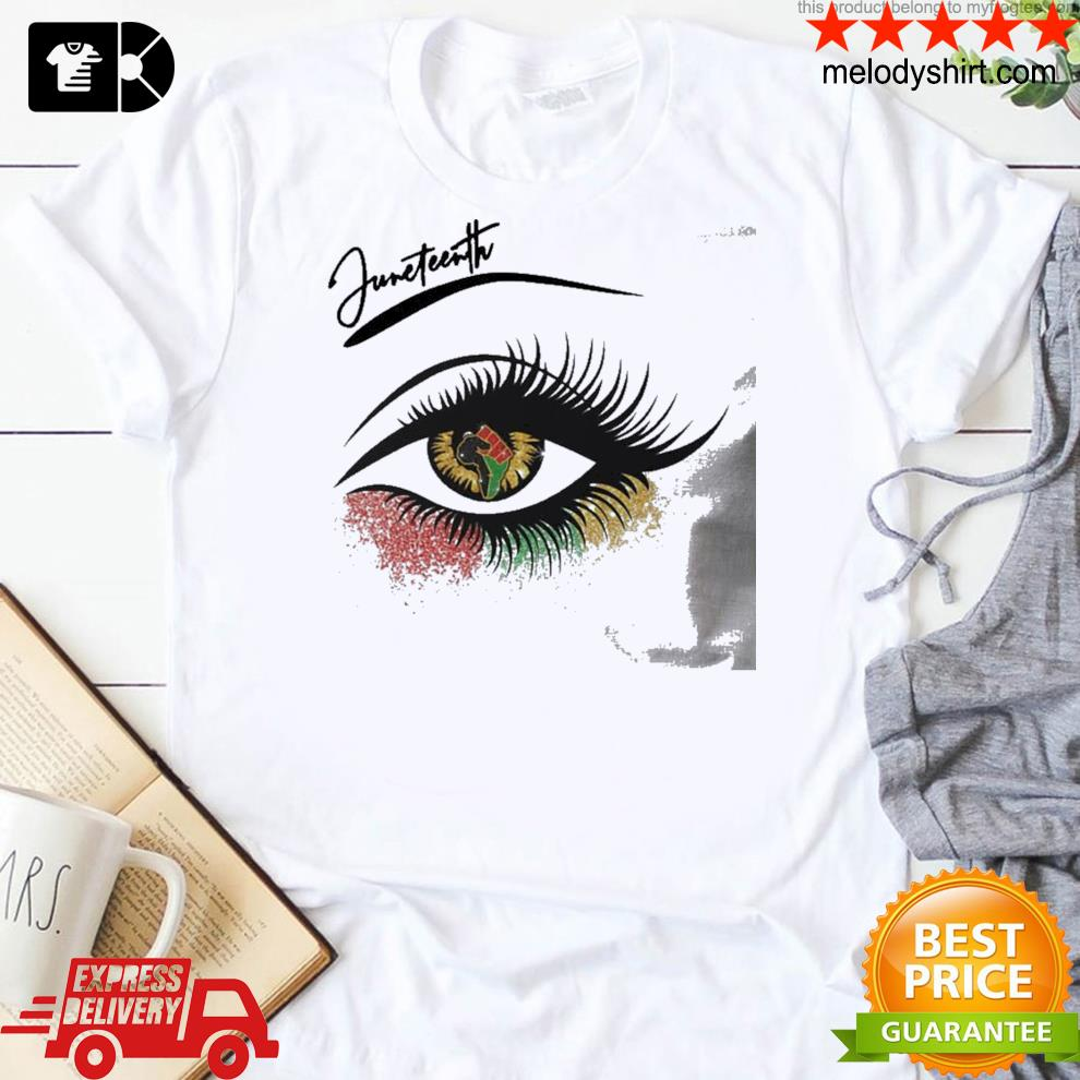 Juneteenth eye african ladies shirt