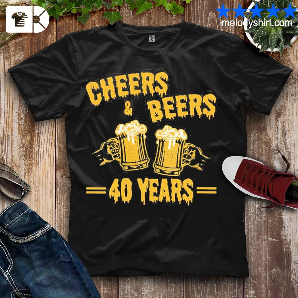 Womens cheers and beers to celebrate 40 years birthday job marriage new 2021 shirt