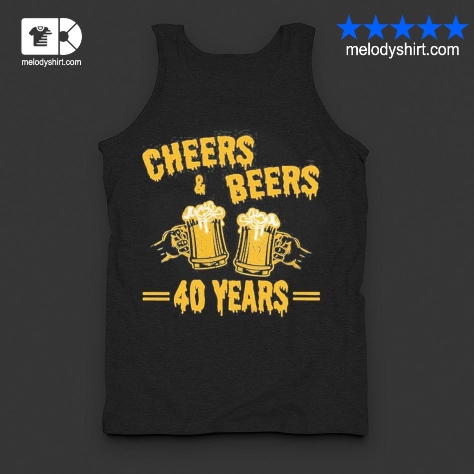 Womens cheers and beers to celebrate 40 years birthday job marriage new 2021 s tanktop